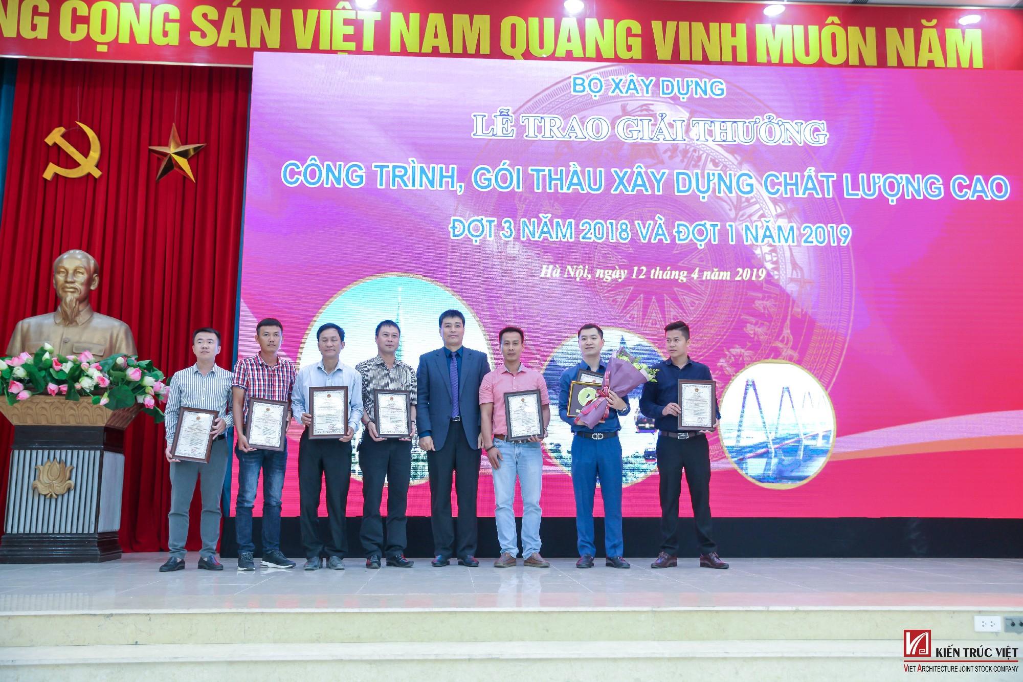 Kiến Trúc Việt nhận giải thưởng công trình chất lượng cao 2019